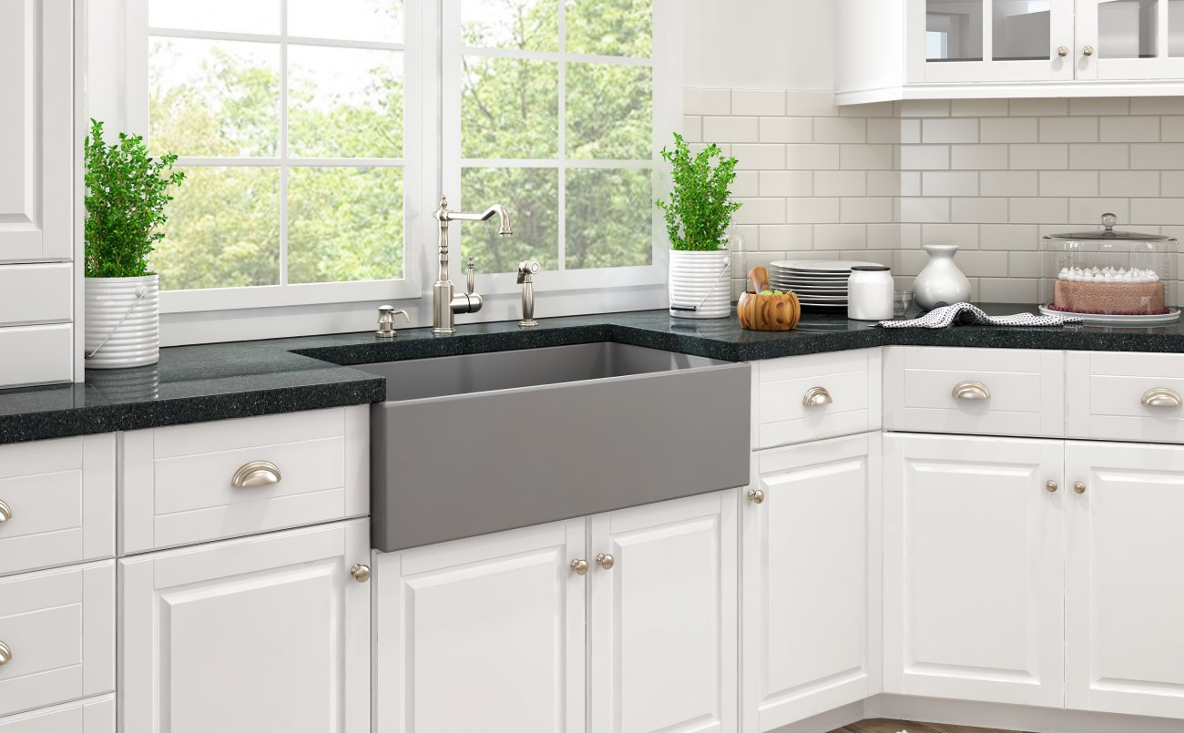 Fireclay Kitchen Sinks & Bocchi