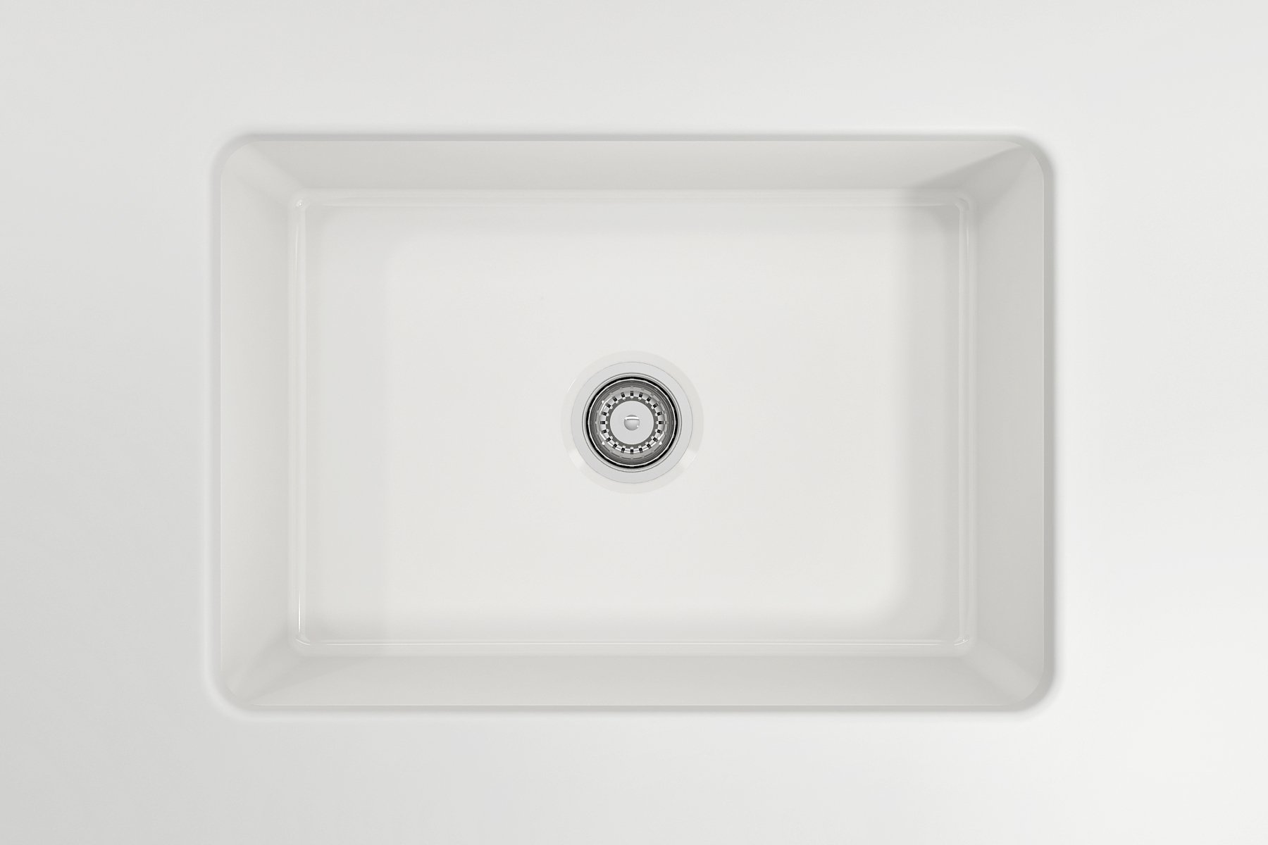 Sotto 27 Undermount Fireclay 27 Single Bowl Kitchen Sink White